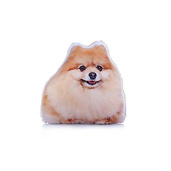 Adorable pomeranian shaped midi cushion