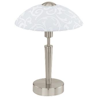 Wellindal Table luminaire 1 Light satin nickel and glass, White Solo