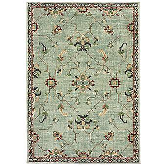 Dawson 8262c blue/ teal indoor area rug rectangle 7'10