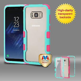 MYBAT Natural Teal Green Frame-Transparent PC Back/Electric Pink TUFF Vivid Hybrid Case for Galaxy S8 Plus MYBAT Natural Teal Green Frame-Transparent PC Back/Electric Pink TUFF Vivid Hybrid Case for Galaxy S8 Plus MYBAT Natural