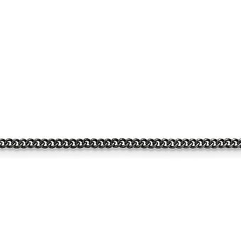 Stainless Steel Polished Fancy Lobster Closure 2.00mm Round Curb Chain Necklace Jewelry Gifts for Women - Length: 18 to