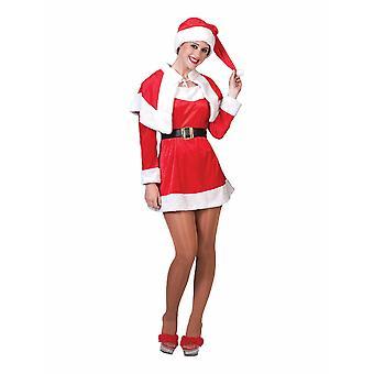Santa Miss Santa naisten puku Santa Lady naisten puku