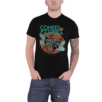 Coheed & Cambria T Shirt Dragonfly Band Logo new Official Mens Black