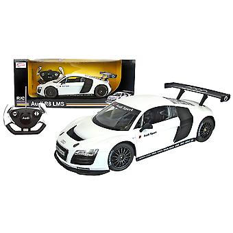 Rastar Official Licensed Audi R8 1/16 Scale Kids White Remote Control Car