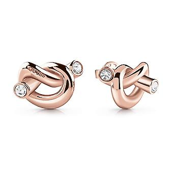 Guess Jewellery Knot Stud Rose Gold Earrings UBE29014