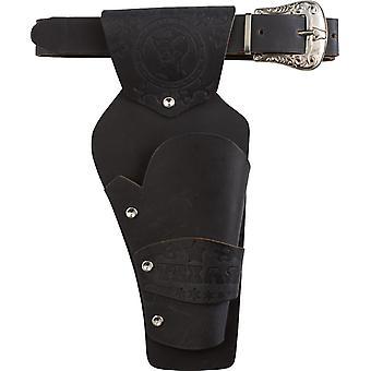 Colt Belt 1 taske sort tilbehør karneval bælte og pistol taske