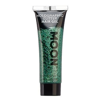 Holographic Glitter Hair Gel di Moon Glitter - 20ml - Verde
