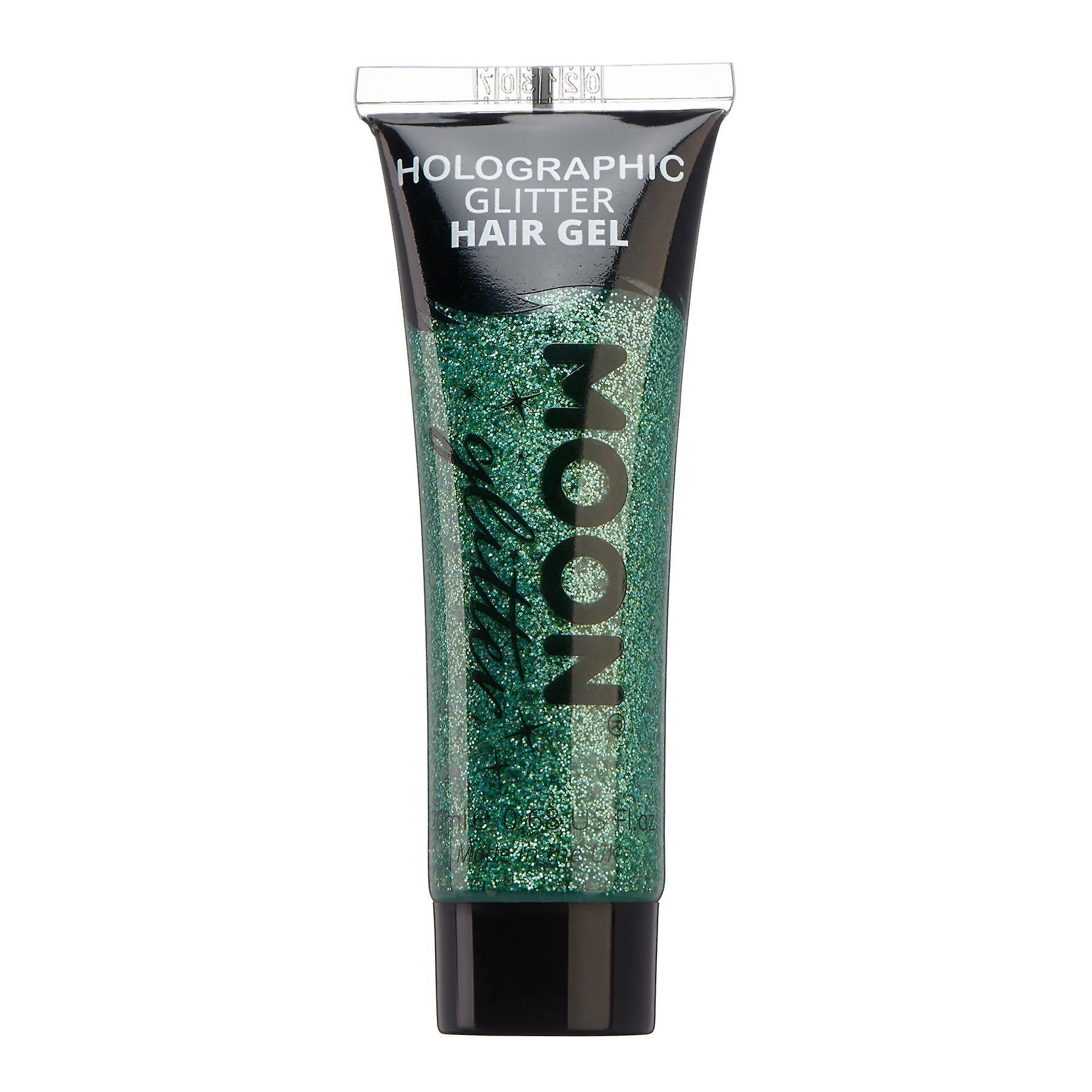 Holographic Glitter Hair Gel by Moon Glitter - 20ml - Green