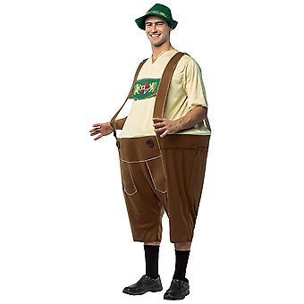 Lederhosen Beierse Duitse bier Oktoberfest Hoopster grappig volwassen mens kostuum