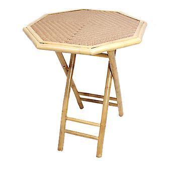28&X 26&X 30& Natural/Tan Bambusz nyolcszögletű összecsukható asztal