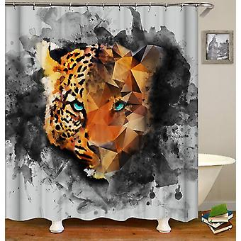 Leopard With Stunning Eyes Drawing Shower Curtain