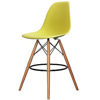 Charles Eames Stile Lime Green Plastic Bar Sgabello