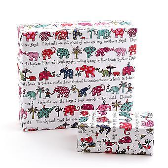Tyrrell Katz Elephants Wrapping Paper