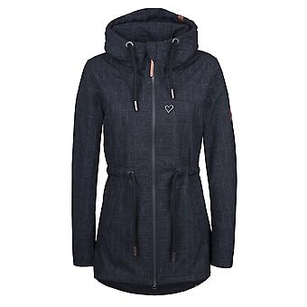 Alife and kickin women's softshell jacket Charlotte D coat parka moonless AOP gr. M-L