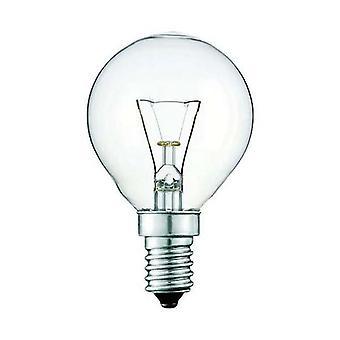 2X lyspære E14S 40W klart fancy rund Seslamp