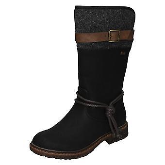 Ladies Rieker Warmlined Mid Calf Boots 94778