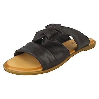 Ladies Leather Collection Strappy Mules F00197