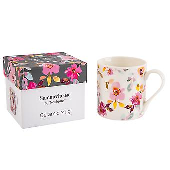 Navigate Gardenia Mug, White Floral