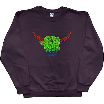 Psychedelic Cattle Variant Four Black Sweatshirt