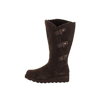熊掌妇女橡胶关闭脚趾膝盖高时尚靴子