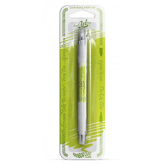 Rainbow Dust Double-Sided Food Penne cibo commestibile Pen Spring Green