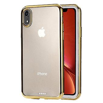 Ultra-thin Electroplating TPU Protective Case For iPhone XR,Gold