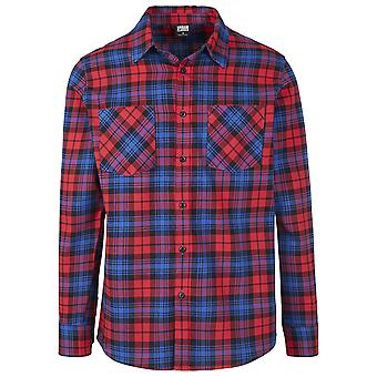 Urban Classics Men's Long Sleeve Shirt Checked Flannel 5