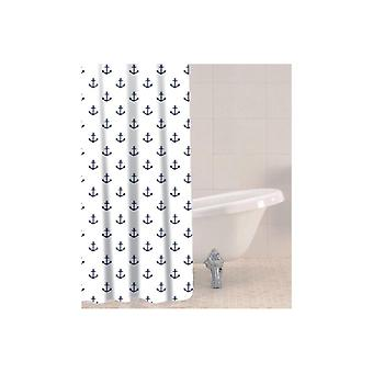 Sabichi Shower Curtain with Anchor Nautical Design