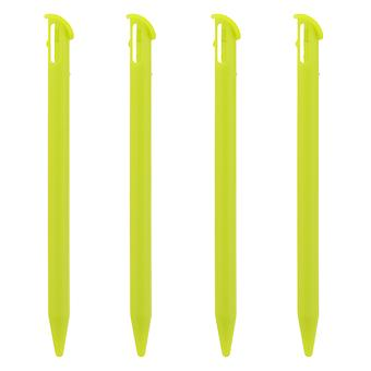Stylus for new 3ds xl 2015 nintendo (2015 model) slot in replacement pen - 4 pack lime green | zedlabz