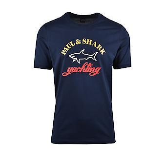 Paul & Shark Paul And Shark Yachting Logo T-shirt Navy