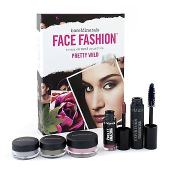 Bare minerals face fashion collection (blush + 2x eye color + mascara + lipcolor) the look of now pretty wild 126078 5pcs