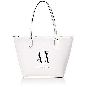 أرماني تبادل 9425750P198 حقيبة بيضاء المرأة (أبيض (أبيض - أبيض 00010)) 30.5x11x29.5 سم (B x H x T)