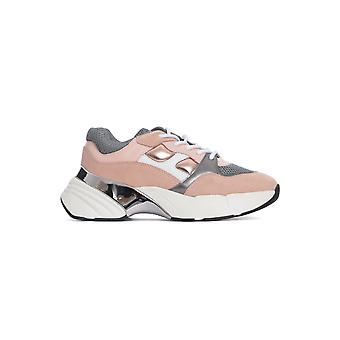 Pinko 1h20pry5znni1 Kvinnor's Pink Fabric Sneakers