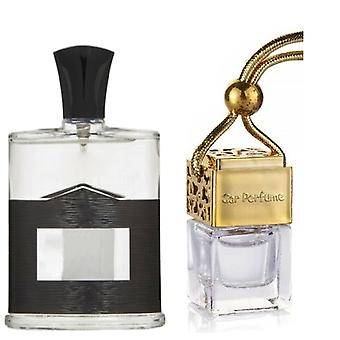 Aventus Creed For Him Inspired Fragrance 8ml Gold Lid Bottle Hanging Car Vehicle Auto Air Freshener
