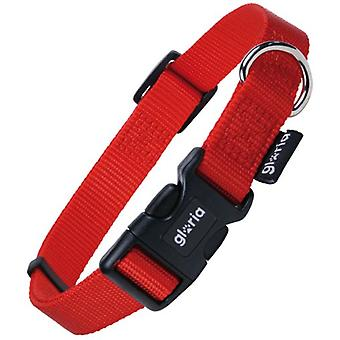 Gloria Pets Adjustable Nylon Collar Smooth Red