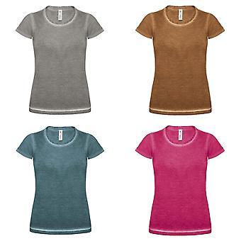 B&C Denim Womens/Ladies Plug In Short Sleeve T-Shirt