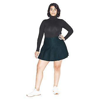 American Apparel Women's Cotton Spandex Long Sleeve, Black, Size X-Large