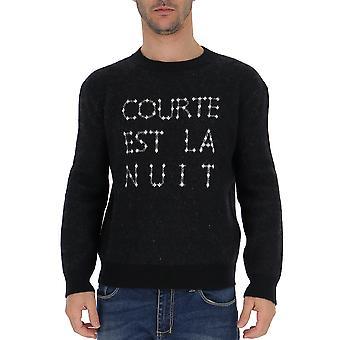 Saint Laurent 584944yagz21093 Männer's Schwarze Wolle Pullover
