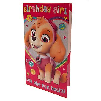 Pote patrulje fødselsdagen piken Card