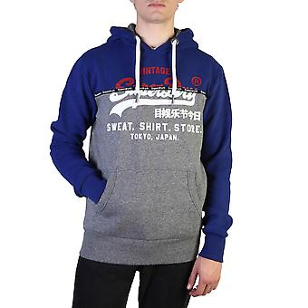 Superdry Original Herren Herbst/Winter Sweatshirt - blaue Farbe 37802
