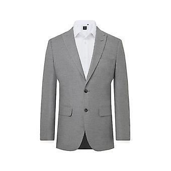 Dobell Mens Black 2 Piece Suit Regular Fit Notch Lapel