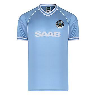Manchester City FC Official Football Gift Mens 1982 Home Kit Retro Shirt