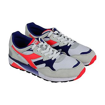 Diadora N9002  Mens Gray Suede Casual Lace Up Low Top Sneakers Shoes