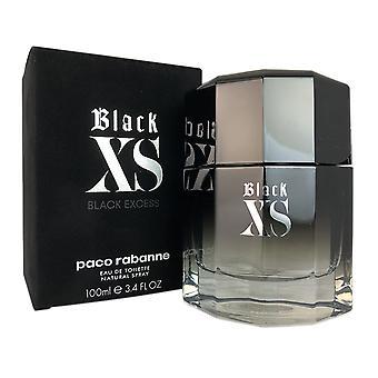 Black xs for men by paco rabanne 3.4 oz eau de toilette spray