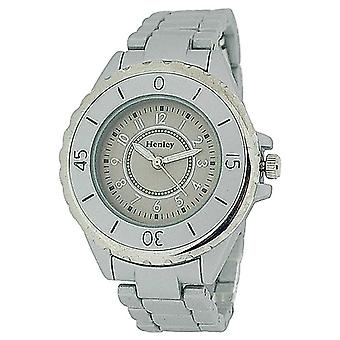 Henley Ladies Champagne Dial & Silver Matt Rubberised Strap Dress Watch H07206.1
