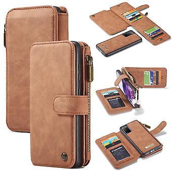 CASEME Samsung Galaxy S20 Retro Leather Wallet Case - Brown