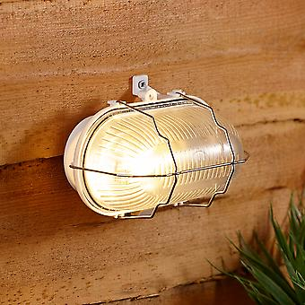 Biard Classic Industrial Exterior Wall Mounted Oval Bulkhead Outdoor Light IP54