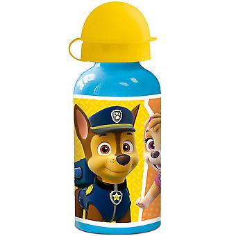 PAW PATROL Kids water bottle in aluminum blue yellow 400ml