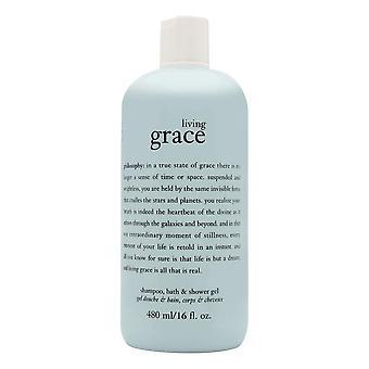 Philosophy living grace 16.0 oz shampoo, bath & shower gel