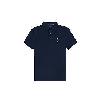 Ralph Lauren Ezcr012032 Men's Blue Cotton Polo Shirt